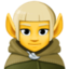 man elf Emoji on Facebook