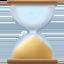 hourglass done Emoji on Facebook
