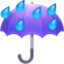 umbrella Emoji on Facebook