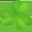 shamrock Emoji on Facebook