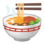 steaming bowl Emoji on Android, Google