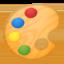 artist palette Emoji on Android, Google