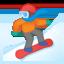 snowboarder Emoji on Android, Google
