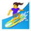 woman surfing Emoji on Android, Google