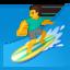 man surfing Emoji on Android, Google