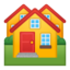 houses Emoji on Android, Google