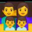 family: man, woman, boy, boy Emoji on Android, Google