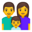 family: man, woman, boy Emoji on Android, Google