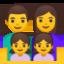 family: man, woman, girl, girl Emoji on Android, Google