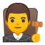 man judge Emoji on Android, Google