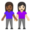 women holding hands Emoji on Android, Google
