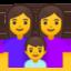 family: woman, woman, boy Emoji on Android, Google