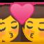 kiss: woman, man Emoji on Android, Google