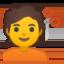 woman getting massage Emoji on Android, Google