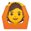 person gesturing OK Emoji on Android, Google