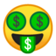 money-mouth face Emoji on Android, Google