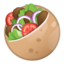 stuffed flatbread Emoji on Android, Google