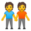 people holding hands Emoji on Android, Google