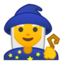 woman mage Emoji on Android, Google