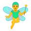 man fairy Emoji on Android, Google