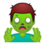 man zombie Emoji on Android, Google