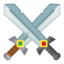 crossed swords Emoji on Android, Google