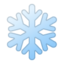 snowflake Emoji on Android, Google