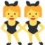 women with bunny ears Emoji on Twitter