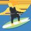 woman surfing Emoji on Twitter