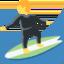 man surfing Emoji on Twitter